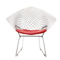 Diamond Armchair with Seat Pad