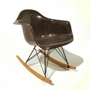 eames rocking chair dark