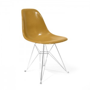 Eames Side shell Chrome Eiffel Base Mustard