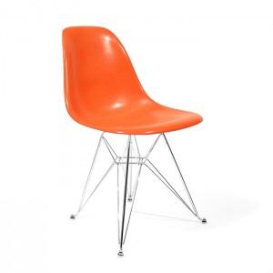 Eames Side shell Chrome Eiffel Base Orange
