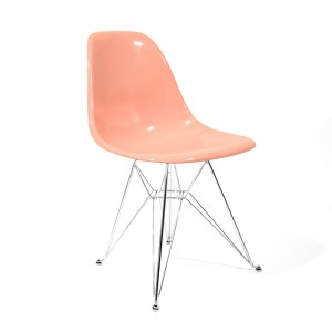 Eames Side shell Chrome Eiffel Base Pink