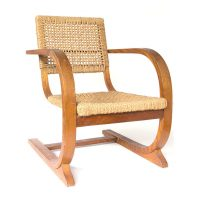 Rope Slung Rare High Back Comfortable Armchair, Bas van Pelt