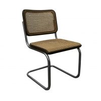 Original Early S32 in Wicker and Black Frame, Thonet, Marcel Breuer