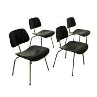 Set of 4 DCM in Black Version, Ray & Charles Eames