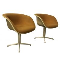 Original La Fonda Chairs by Miller in First Fabric, Ray & Charles Eames