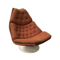 Easy Chair Model F 590 in Brick or Terra Fabric, Harcourt