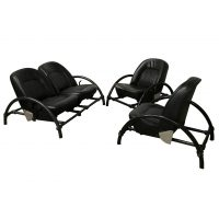 Rover Set, Ron Arad, One Off, Twee Lounge Chairs en een Zeldzame Tweezitsbank
