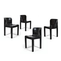 Set Black Table Chairs