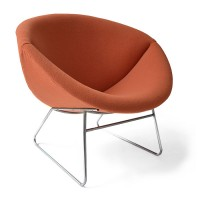 Lounge Chair in Orange Fabric