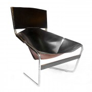 F 444 Black Lounge Chair