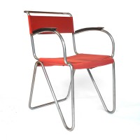 Diagonal Chair + Armrests, Gispen