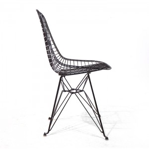 Zwarte Vintage DKR Wire Chair - Charles & Ray Eames