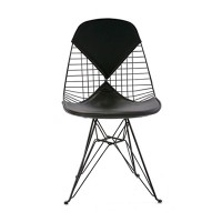 DKR 2  Eames Wire Chair Bikini Black Leather, , Ray & Charles Eames