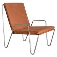 Suede Bachelor Chair with Cushions and Arms, Verner Panton, Rosenthal