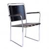 Circa 1930, Bauhaus Stijl Buis fauteuil met Originele geverfd Hout