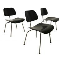DCM in Painted Black Version, Ray & Charles Eames