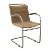 Early Vintage Tubular Side Chair with Original Fabric, Bas van Pelt
