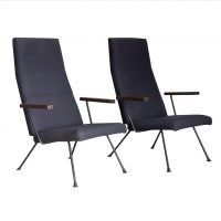Easy Chair 140, Original Dark Blue/Black Fabric