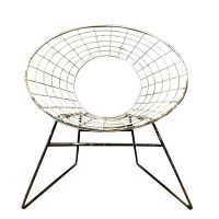 Elegant 1960s Chair in Style of Ferrari and Hardoy Plus Bertoia