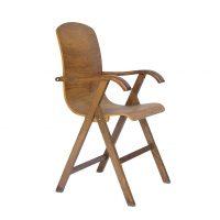 Plywood stoel met armleuningen