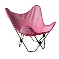 Foldable Children Butterfly Chair black with Pink Cover
