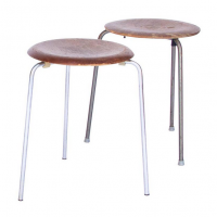 Set of Two 3170 Stackable Stools in Wood