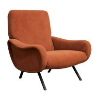 Lady Chair in Soft Velvet/Terra Fabric, Zanusso