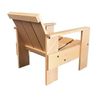 Number 60, Children Crate Chair Wood, Rietveld