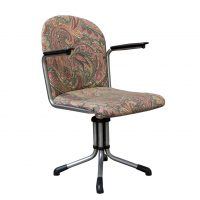Office Chair 356, Bakelite Armrests and Bailey Fabric, Gispen