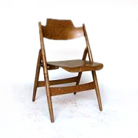 Folding chair, wood, Eiermann