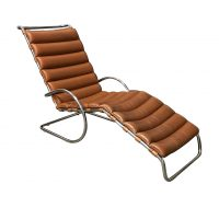 Rare Early Production Adjustable Chaise Longue, Mies van der Rohe, Knoll International