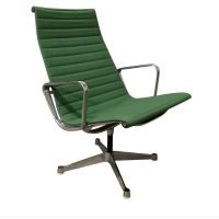Ray / Charles Eames; Miller, EA 116, Flat Base Easy Chair in Apple Green