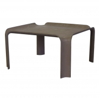 Early More Elegant Side Table Model 877 in Chocolate Brown