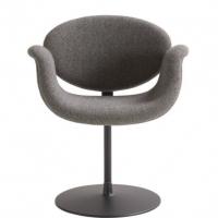 Pierre Paulin, Artifort, Tulip Chair,  Lightgrey Tonus Fabric, Black Turnable Base