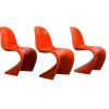Set Oranje Stapelbare stoelen, Verner Panton, Miller