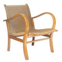 Easy Chair in Wood and Rope