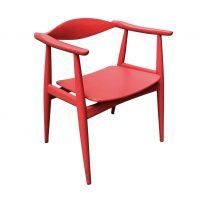 Side Chair in Originally Red Painted Wood, circa 1930